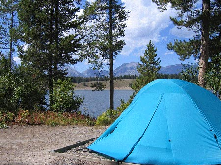 Gros Ventre Campground | Escape Adventures Bike Tour Lodging